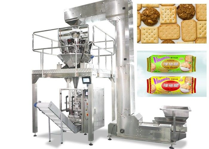 Vertical Food Packing Machine For Biscuit / Chips Full Automatic Control